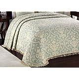 LaMont Home All Over Brocade Queen Bedspread, Linen