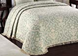 Lamont Limited All Over Brocade Bedspread, Queen, Linen