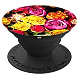 Colorful Rose Flowers Bouquet - PopSockets Grip and Stand for Phones and Tablets