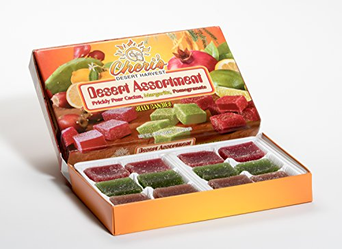 Desert Assortment Jelly Candies - Prickly Pear Cactus - Margarita, Pomegranate- Margarita - Tastes Great