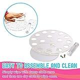 Round Clear Acrylic Mini Ice Cream Cone Holder