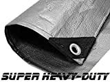 06 X 10 Super Heavy-Duty Tarp Silver/Silver (Finished Size 5'6'' x 9'6'')
