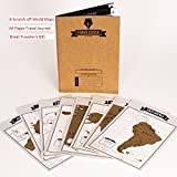 Scratch off Travel Journal & Maps | Travelogue Tourist Notebook | Traveler's Gift | 8 Maps and 64 Pages | Backpacker Flashpacker RTW Gap Year Journey of Lifetime Present