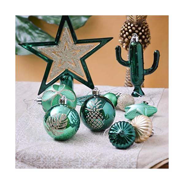 Valery Madelyn Palle di Natale 70 Pezzi di Palline di Natale, 3-10 cm di Strada di Campagna Rosso Verde e Oro Infrangibile Ornamenti di Palla di Natale Decorazione per la Decorazione 6 spesavip