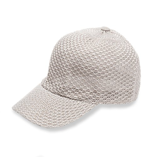 Free Spirit Adjustable Open Knit Straw like Baseball Cap Hat for Women & Girls - Lightweight & Versatile for all Seasons with 2 Colors - Perfect Gift (Sandstone)