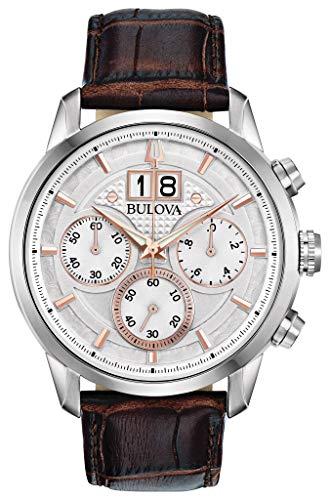 Bulova 96B309 Sutton Men's Watch Brown 44mm Stainless Steel