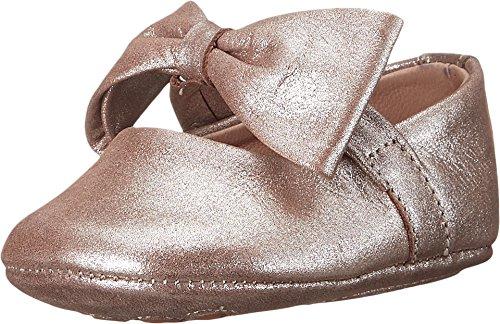 Blush Finish (Elephantito Girls' Baby Ballerina with Bow-K Crib Shoe, Suede Blush, 3 M US Infant)