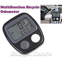 Gadget Hero's Digital LCD Waterproof Cycling Bicycle Odometer Speedometer Black