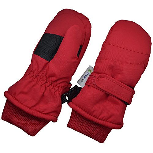 Children Toddlers and Baby Mittens Made With Thinsulate and Fleece - Winter Waterproof Gloves - KX GEAR by Zelda Matilda, Red, 1-2 years from Zelda Matilda