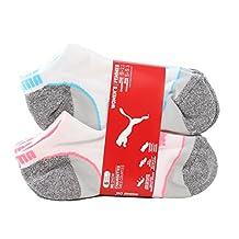 PUMA Women's No Show Sports Socks - 6 Pairs, Shoe Size 5 to 9.5