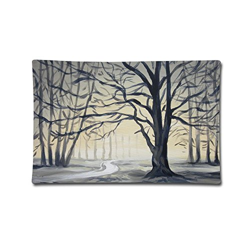Throw Pillow Covers Park Winter Tree Cotton Decorative Pillowcase Pillow Shams Set Cushion Case for Sofa Bedroom Car 20