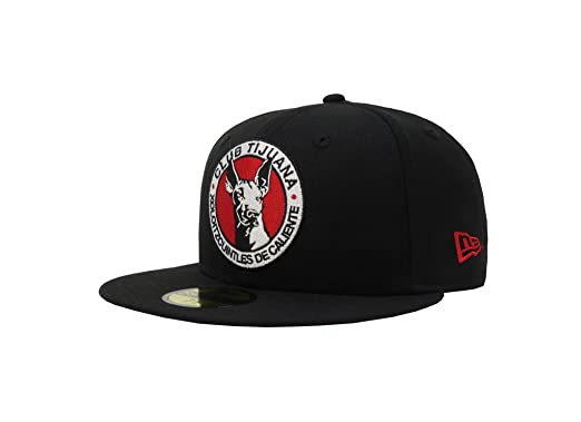 New Era 59Fifty Hat Tijuana Xolos Caliente Soccer Club MX League Official Black Cap (6