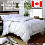 100% Cotton White Goose Down 260T Deluxe Filled in Canada