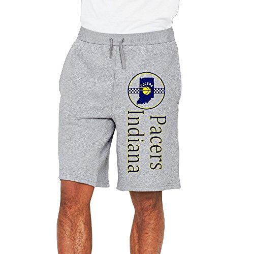 Men's Indiana Pacers Cotton Short Jogging Pants Ash US Size 3X