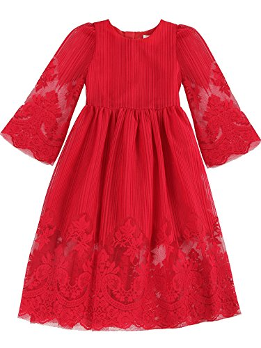 Bonny-Billy-Girls-Classy-Embroidery-Lace-Maxi-Flower-Girl-Dress