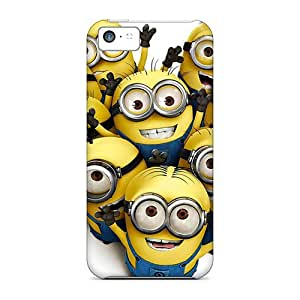 Anti-Scratch Cell-phone Hard Cover For Apple Iphone 5c (Brz1552Aezy) Allow Personal Design Realistic Minion Series