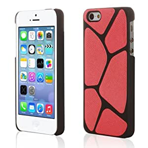 Century Accessory Hybrid Veins Polygon Snap On Hard Case Cover Skin For Apple iPhone 5S/5 Red