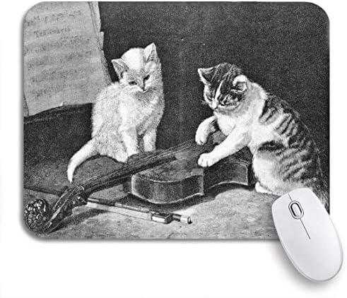 Gaming muismat kittens graveren door gedan van schilder veirus gepubliceerd antislip rubberen achterkant muismat voor notebooks computers muismat