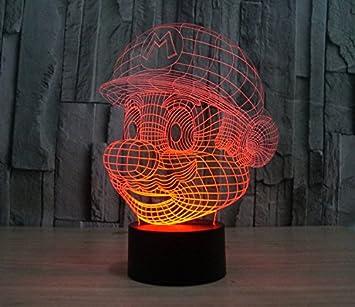 Elsley Star Wars Mario 3d lámpara Vision LED de mesa escritorio ...
