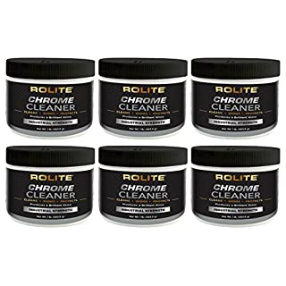 Rolite Chrome Cleaner (1lb) for All Chrome Plated Surfaces. Motorcycles, Automobiles, Boats, RVs, Bumpers and Much More 6 Pack