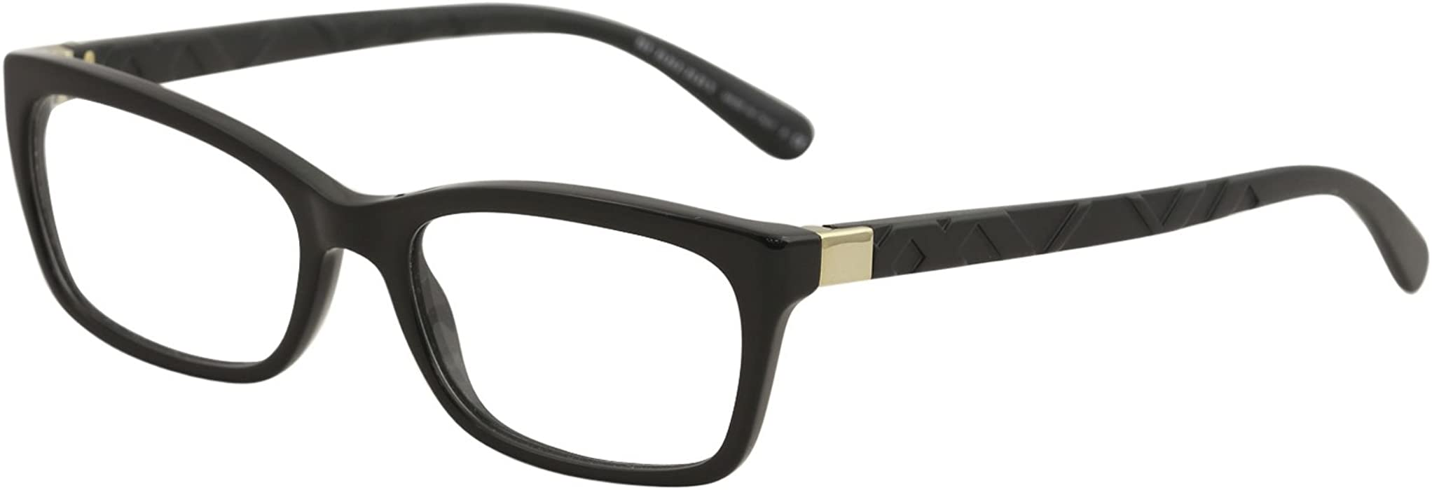 c6bb0ab6a6 BURBERRY Eyeglasses BE 2220 3001 Black 54MM at Amazon Women s ...