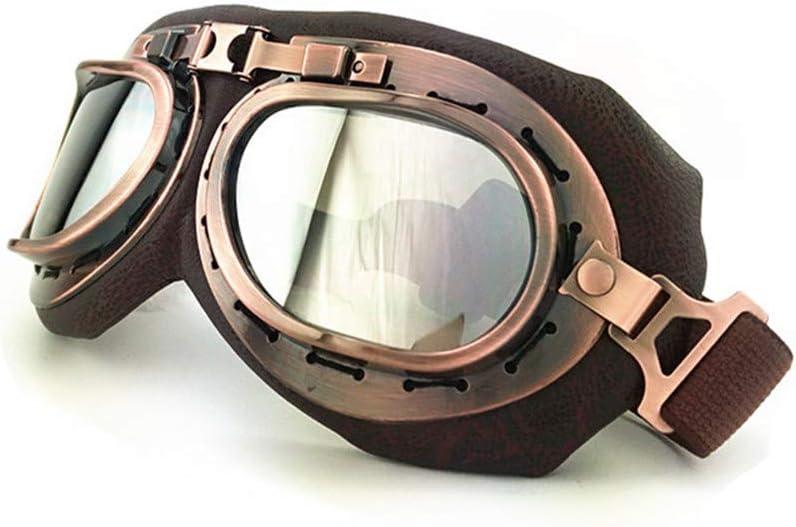 Brown SummShine Motorbike Goggles Vintage Helmet Sunglasses Motocross Motorcycle Outdoor Sports Racer Cruisers Eyewear