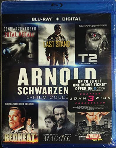 Arnold Schwarzenegger: 6-Film Collection (Hercules in New York / The Last Stand / Maggie / Red Heat / Terminator 2: Judgment Day / Total Recall) [Blu-ray + Digital -