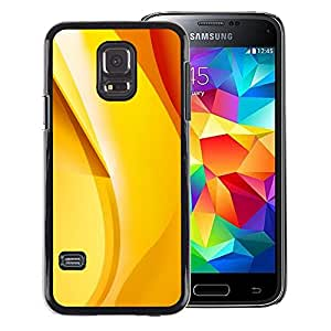 A-type Arte & diseño plástico duro Fundas Cover Cubre Hard Case Cover para Samsung Galaxy S5 Mini (Not S5), SM-G800 (Gold Yellow Orange Red Banana Abstract)