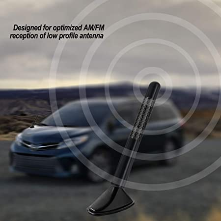 AURELIO TECH Black Carbon Fiber Style Short Antenna for Toyota All Model 4.7-Inch