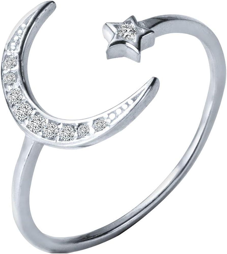 Luna Jewelry Sun Jewelry Copper Moon Ring Adjustable Ring Moon Ring Moon Jewelry Lunar Ring RTS Copper Moon Eclipse Jewelry