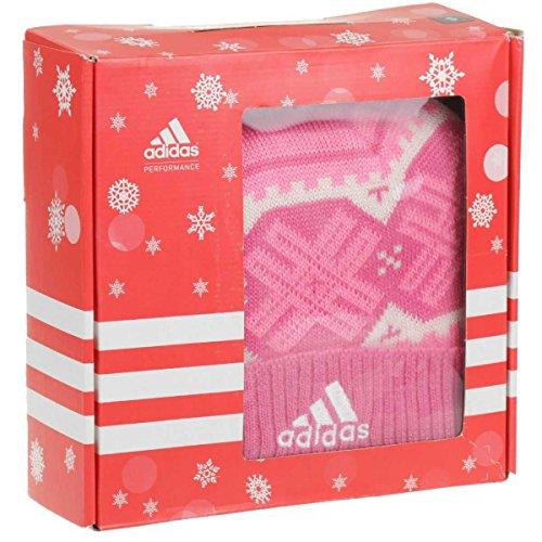 Adidas Gift Set Kids scarf, cap for girls rosa