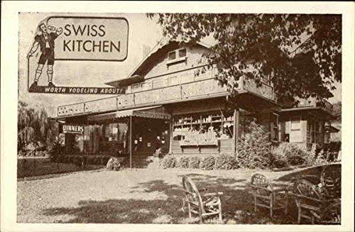 Swiss Kitchen, Worth Yodeling About Asheville, North Carolina Original  Vintage Postcard