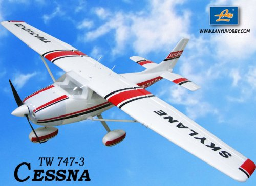 Scale Remote Control Plane - New 6 CH 2.4GHz Cessna 182 Skylane Radio Remote Control RC Airplane RTF w/ EPO Durability + With Flaps