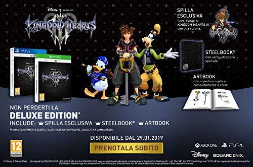 Kingdom Hearts III - Deluxe Edition - PlayStation 4 [Importación ...