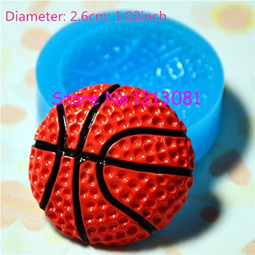 Molde de silicona F038 con forma de balón de baloncesto, de 26 mm ...