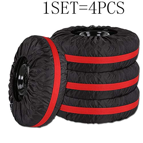 Bingo Point 4Pcs/Lot Car Spare Tire Cover Case Polyester Auto Wheel Tires Storage Bags Vehicle Tyre Accessories Dust-Proof Protector by Bingo Point (Image #1)