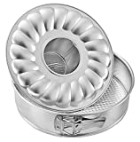 Zenker 6806 Springform With Flat and Tubular Base, Silver, 7.09''