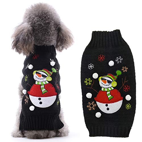 PETCARE Dog Christmas Sweater Funny Warm Dog Vest Pet Winter Clothes for Small Medium Dogs Cats Puppy Teddy Yorkie Terrier Jumper Ugly Sweaters