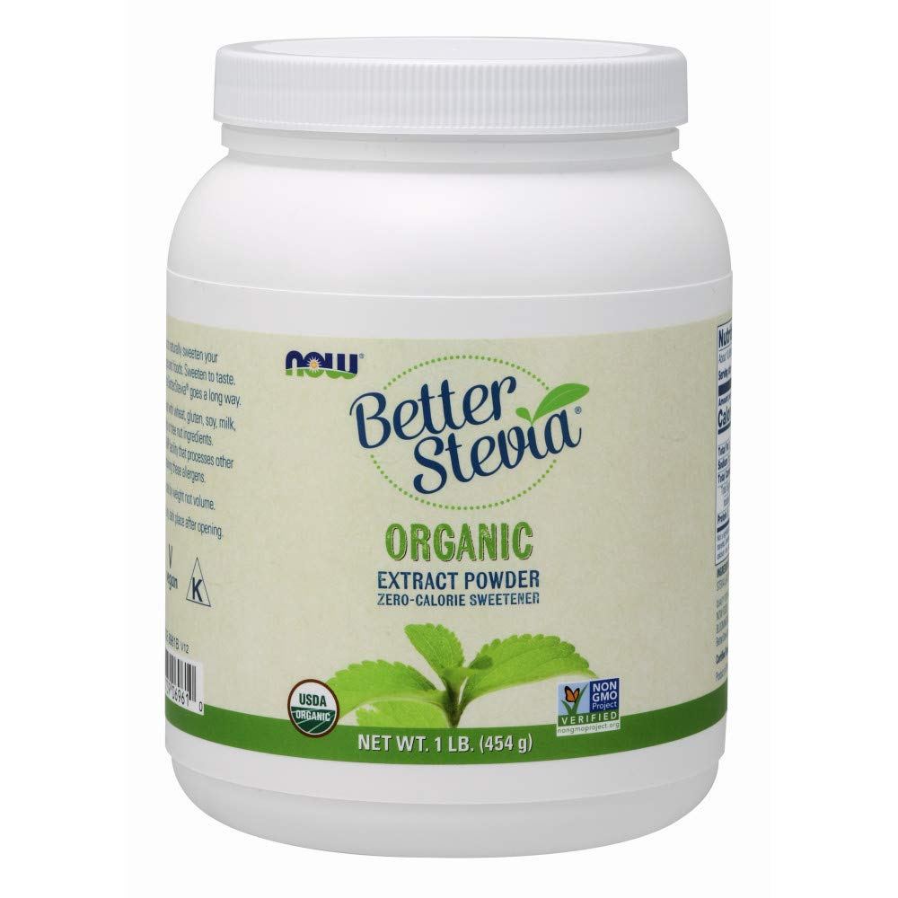 NOW Foods Organic Better Stevia Extract Powder, 16-Ounce by NOW Foods