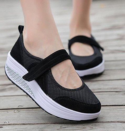 De Formateurs Jane Gfone Marche Chaussures Femmes Noir Mary Sport Coin forme Mocassins Plate De Randonnée Chaussures De qgqP1T