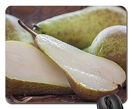 Mouse Pad - Pears Sliced Cut in Half Juicy Healthy Sweet
