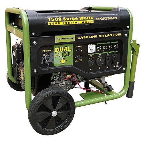 Sportsman 7,500/6,000-Watt Dual Fuel Powered Portable Generator with Electric Start and Runs on LPG or Regular Gasoline