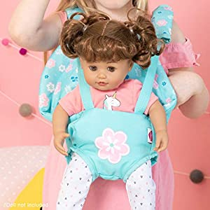 Adora Baby Doll Carrier – Flower Power Baby Snuggle Carrier, Perfect Doll Accessory That Fits Dolls Up to 20 inches