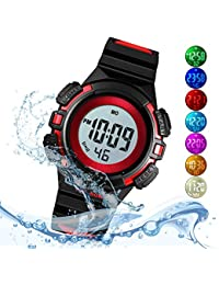 Kid Watch for Boy Girl Child Multi Function Digital LED Sport 50M Waterproof Electronic Analog Quartz