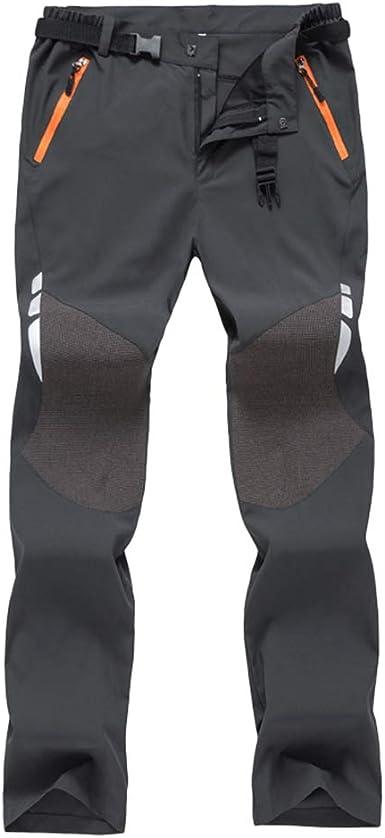Haobing Pantalones de Trekking con cinturón Secado rápido Transpirable Pantalon de Acampada y Marcha para Hombre