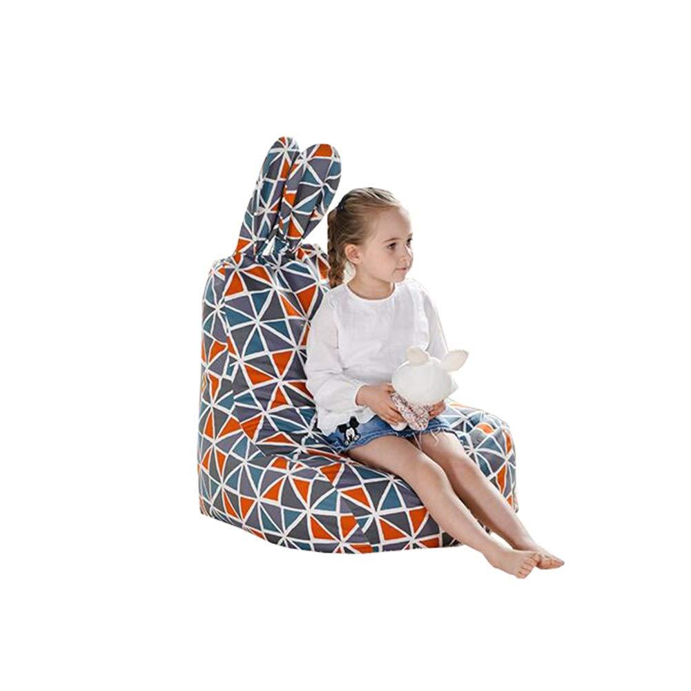 YJchairs Sitzsack - Kinder Gaming Stuhl Tierohr Faules Sofa der Kinder (Farbe   Stripe) Gitter
