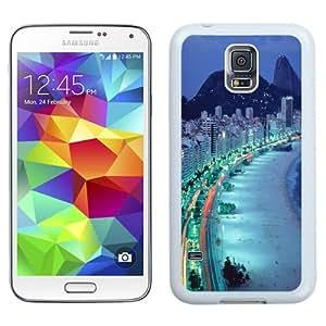 NEW Unique Custom Designed Samsung Galaxy S5 I9600 G900a G900v G900p G900t G900w Phone Case With Rio de Janeiro Seaside Brazil_White Phone Case