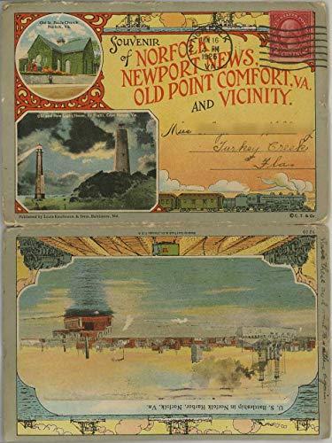 Norfolk - Newport News - Old Point Comfort - Virginia - 1926 Curt Teich Souvenir Postcard Folder #3210