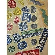 30 pcs Henna Rubber stencil Airbrush Glitter temporary tattoo body art Mehndi