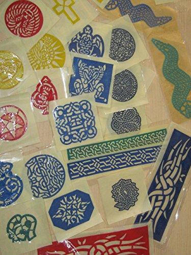 30 pcs Henna Rubber stencil Airbrush Glitter temporary tattoo body art Mehndi from NEHA